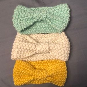 Other - Set of 3 Baby Girls Knit Headbands